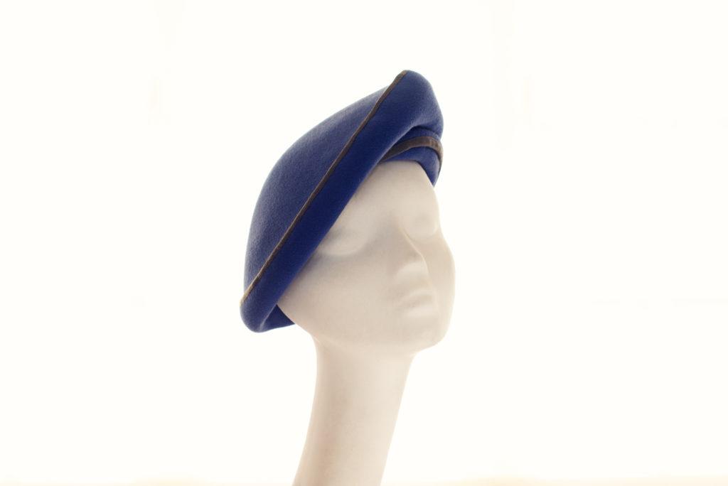 blue felt beret